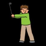 ゴルフスイングのバックスイングのヘッドの引き方