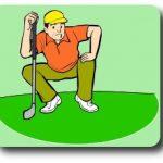 ゴルフスイングの軸回転とウエートシフト