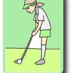 上半身のリキミを抜いたゴルフスイング